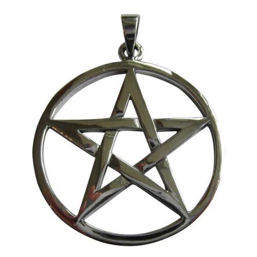 Large  Pentagram  Pendant New ! 925 ! 37 mm Sterling Silver