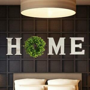 Rustic-Wooden Home Letters Sign With 12 Inch Artificial Wreath Wall Home Decor