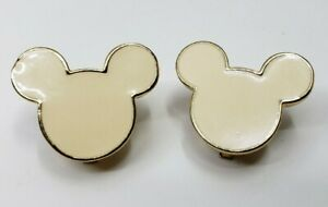 Vintage-Cream-Disney-Mickey-Mouse-Head-Clip-On-Earrings