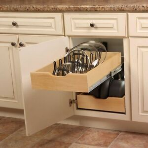 Image Is Loading Kitchen Pot Pan Lid Holder Cabinet Pull Out