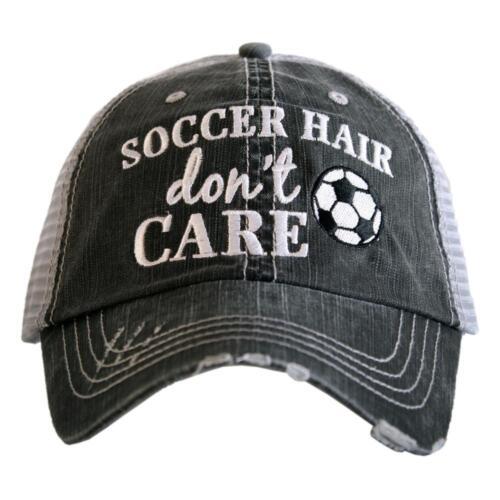 "KATYDID HATS-TRUCKER HAT-BASEBALL CAP-/""SOCCER HAIR DON/'T CARE/"" KATY DID HAT-NWT"
