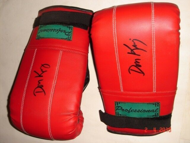 DON KING original autographed boxing Gloves