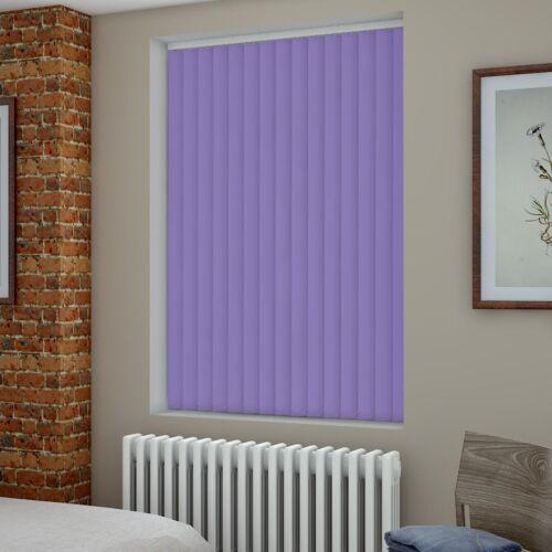 Blackout violet clair faite sur mesure Vertical Blind-Meilleur Prix-Full aveugle