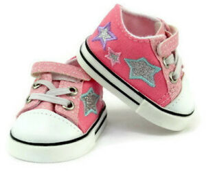 86b901e4d805b Details about Pink Glitter and Stars Tennis Shoes Sneakers for 18