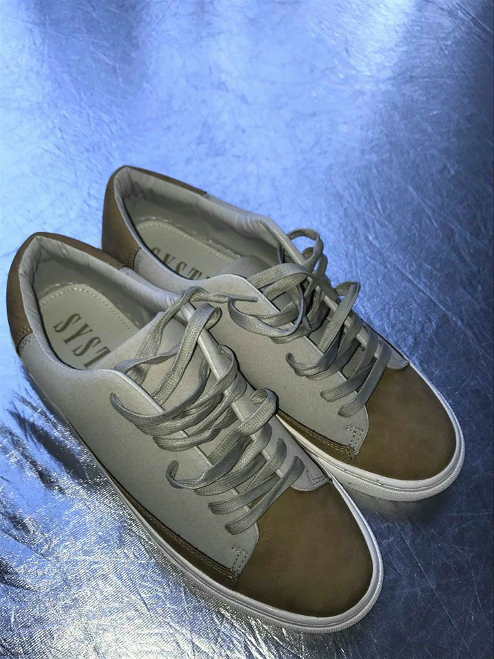 NEW Men's Systvm Casual Sneakers Beige Sz 10 Us