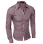 Mens-Cotton-Casual-Plaid-Shirts-Long-Sleeve-Slim-Bottoming-Shirts-Tops-7-Colors thumbnail 9