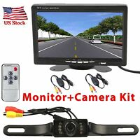 Wireless Ir Night Vision Rear View Back Up Camera System +7 Hd Monitor Us Stock