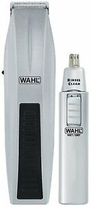 wahl 5537 420 12 pieces mustache beard nose trimmer travel kit brand new ebay. Black Bedroom Furniture Sets. Home Design Ideas