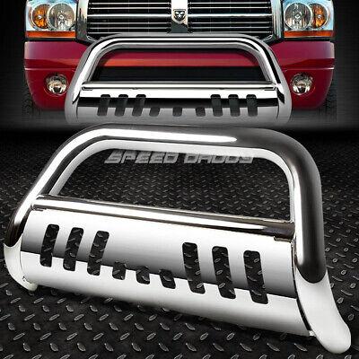 Chrome For Dodge Ram 1500//2500//3500 BR//BE 3 Bumper Push Bull Bar+Removable Skid Plate