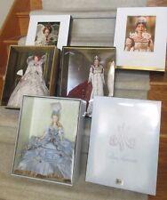 Marie Antoinette, Empress Josephine, Queen Elizabeth Barbies - NRFB Mint Royalty