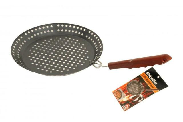 BBQ Collection Barbecue Non-Stick 32cm Skillet Fry Tray Grill Basket Frying Pan