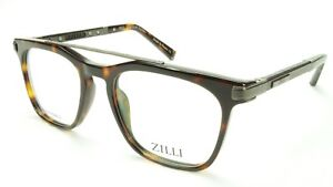 7e2280080e0 Image is loading ZILLI-Eyeglasses-Frame-Acetate-Leather-Titanium-France-Hand -