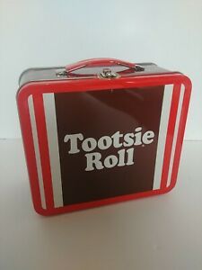 2010 Vintage Tootsie Roll Tin Lunchbox Loungefly Metal Lunch Box Pail