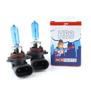 Mazda-3-BK-HB3-100w-Super-White-Xenon-HID-High-Main-Beam-Headlight-Bulbs-Pair