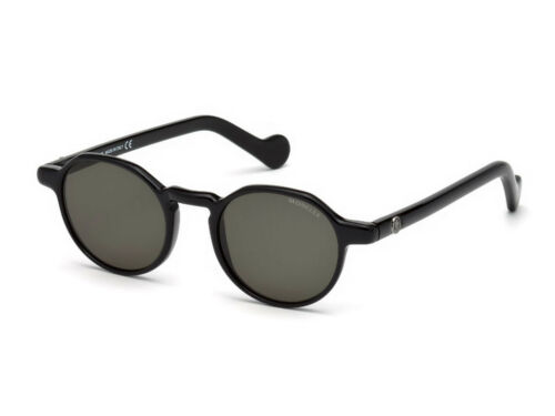 sunglasses MONCLER ML0074 shiny black green 01N