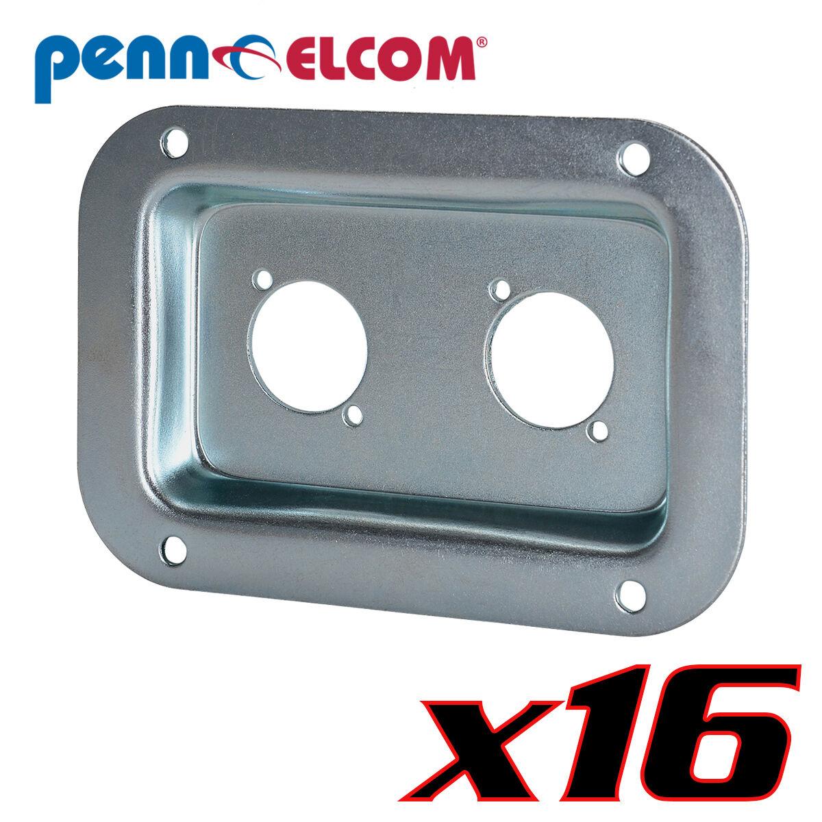16 Penn Elcom D0604Z Dish 2 Neutrik D Speakon NL2 NL4 PennBrite 3-1 2  x 5-1 8