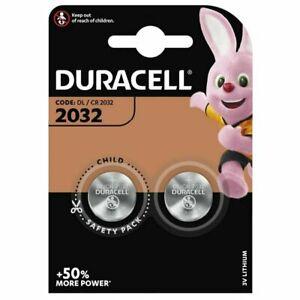 Lot 2 Piles Boutons CR2032 Duracell 3V Lithium, Expédition Rapide et Gratuite