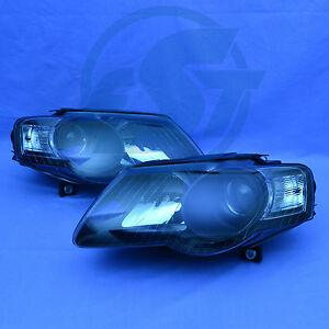 2x-Scheinwerfer-VW-Passat-3C-schwarz-05-10-links-rechts-Set-Klarglas-NEU-black