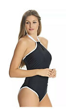 US 38D Freya BLACK Freestyle Underwire One-Piece Swimsuit