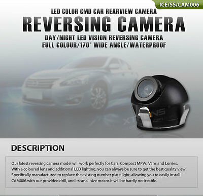Mini 360° CCD HD Car Front Reverse Camera Rear View Backup Parking Camera CMOS