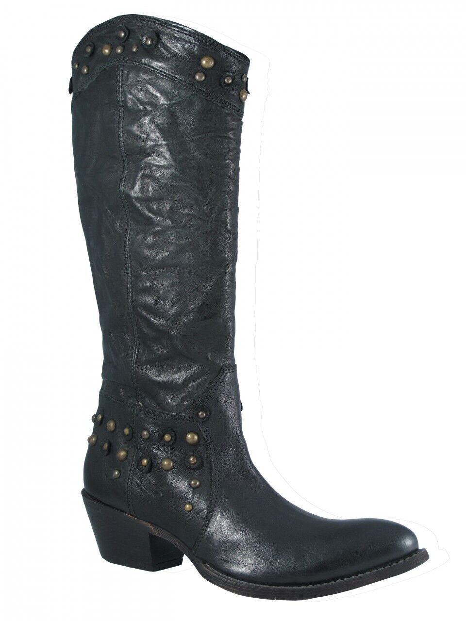 Women's The Seller Italian Western 3023 Boot, Black