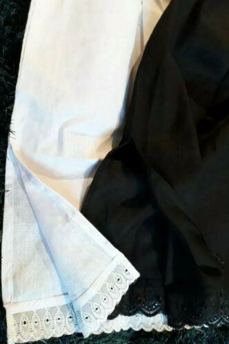 "Slip Algodón Cintura Medio se desliza Damas Negro Blanco Enagua Enagua 24/"" 27/"" 30/"""