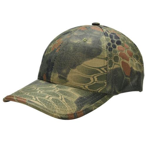Men Camouflage Military Adjustable Hat Camo Hunting Fishing Army Baseball Cap JC