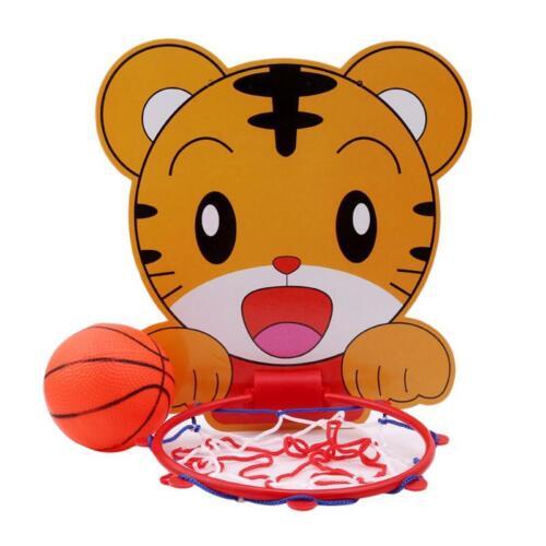 Portable Kids Basketball Stand Set Basket Hoop Backboard Net Cartoon Cute YW