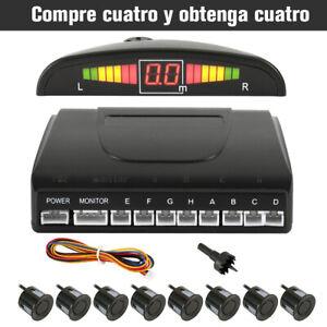 8-Capteur-Parking-Stationnement-LED-Radar-de-Recul-NOIR-Arriere-Voiture-BA