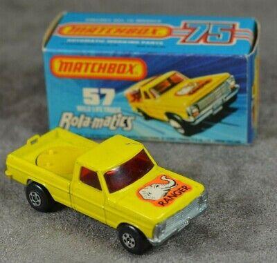 Repro Box Matchbox Superfast Nr.57 Wild Life Truck blaue Box