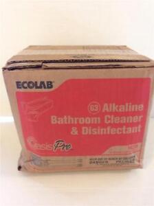 Ecolab 14206 oasis pro 63 alkaline bathroom cleaner for Ecolab heavy duty alkaline bathroom cleaner