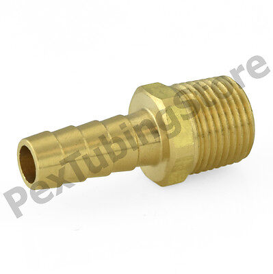 Brass Hose Fitting Hose Barb Adapter Male Threaded End Hose Barb Fittings 1//4 Barb x 1//2 MNPT Pipe Adapter with 8 Pcs Hose Clamp,Pipe Fittings Brass Barb Hose Fitting 8 PCS Air Hose Fittings