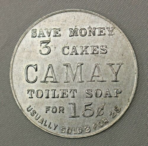 Vintage Trade Token 3 Cakes of Camay Soap for 15c Proctor /& Gamble 151-BF
