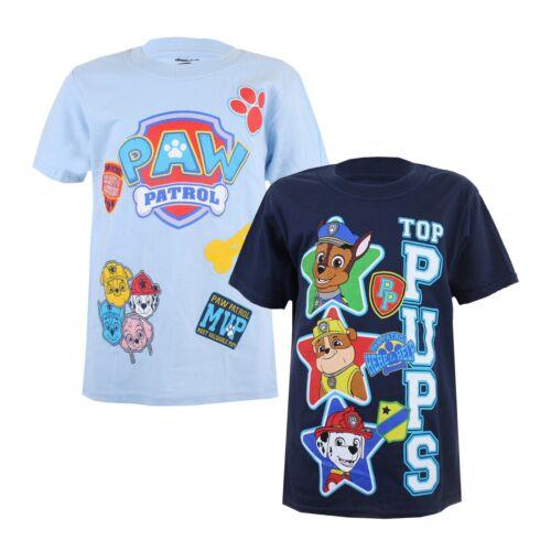 Paw Patrol-Confezione di due-Kids T-Shirt-OFFICIAL LICENSED-età 5-10