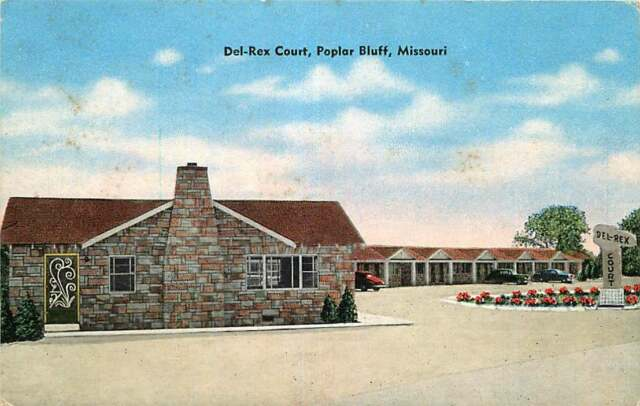 Unused Linen DEL-REX COURT MOTEL Poplar Bluff Missouri MO
