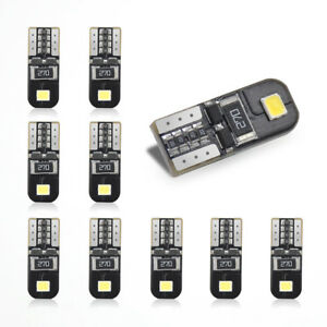 10Pcs-6000K-Canbus-T10-168-194-W5W-2825-Dome-License-Side-Marker-LED-Light-Bulb