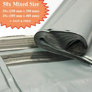 50-MIX-MAILING-GREY-BAGS-MIXED-PARCEL-PACKAGING-12-x-16-and-10-x-14-Cheapest-UK
