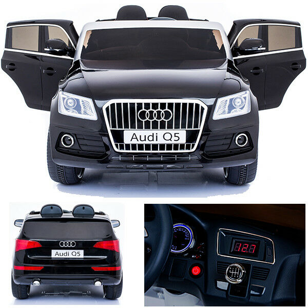 Audi Q5 Quattro Auto Bambino Vettura per Elettrica 2x Motori 12v Schw