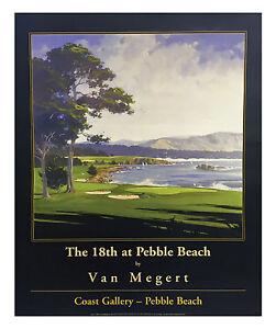 Image Is Loading Free Shipping Pebble Beach 18th Hole Poster Additional