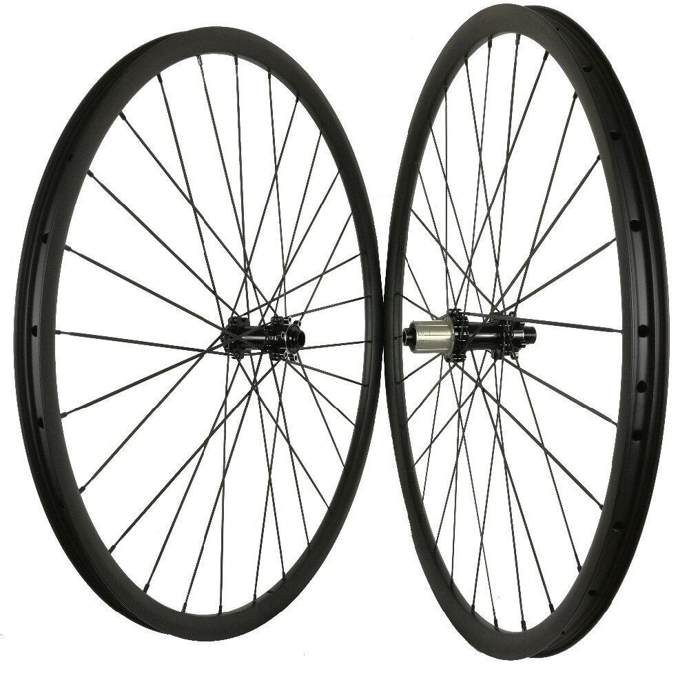 29ER carbon mountain bike wheelset for AM XC 35mm width thru axle 15100 12142