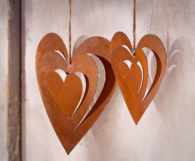Landhausstil Clayre/&eef Bär mit Herz Vintage braun* Anhänger