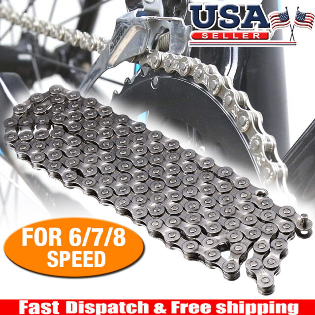 Silver Shimano IG51 Steel Bicycle Chain 7//8 Speed Mountain Bike Chain 116 links