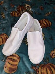 liz-claiborne-White-Slip-On-Sneakers-Size-7