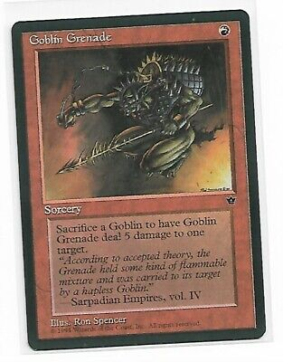 4 Goblin Grenade V3 Spencer ~ Red Fallen Empires Mtg Magic Common 4x x4