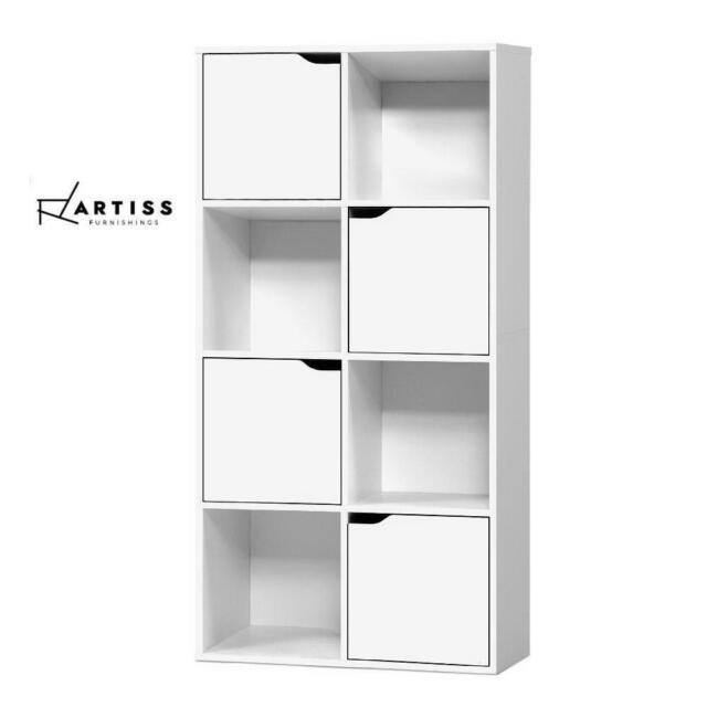 RETURNs Artiss Display Shelf Bookshelf 8 Cube Storage Door Cabinet Organiser Uni