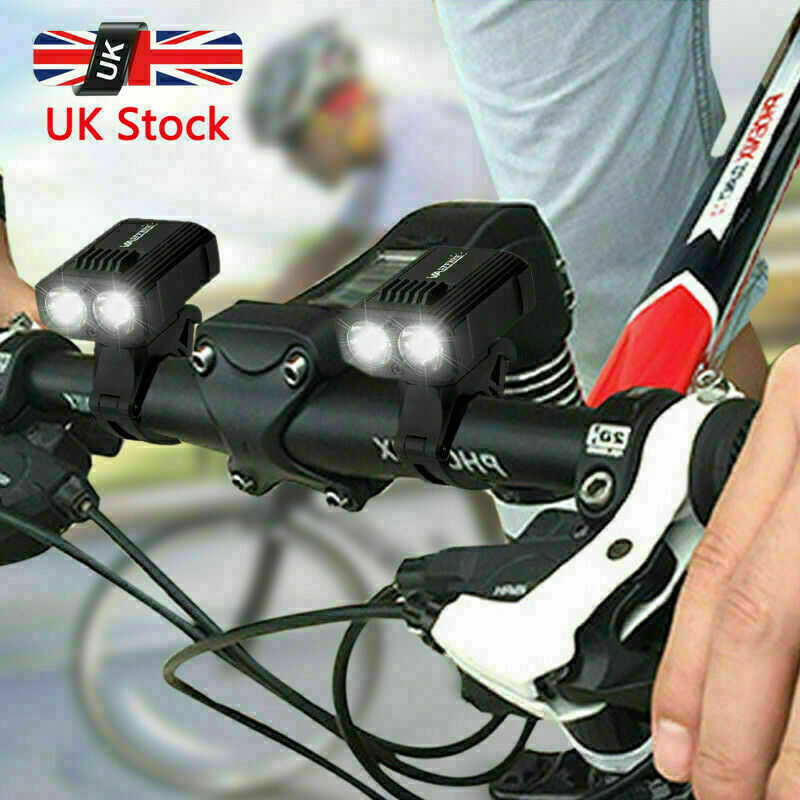 1//2×15000LM T6 LED Rechargeable MTB Bicycle Light Bike Rear Front Headlight USB