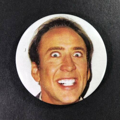 """Nicolas Cage Crazy Face Silly 2.25/"""" Magnet"""