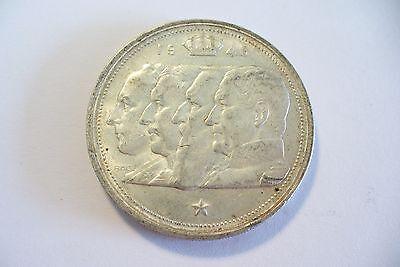 Monnaie Belgique Argent Légende Française 100 Frs 1948 / 18 Gr. !!