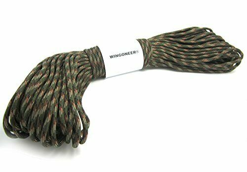 550 Paracord Mil Spec Type III 7 strand parachute cord Olive Green Camo 100 feet