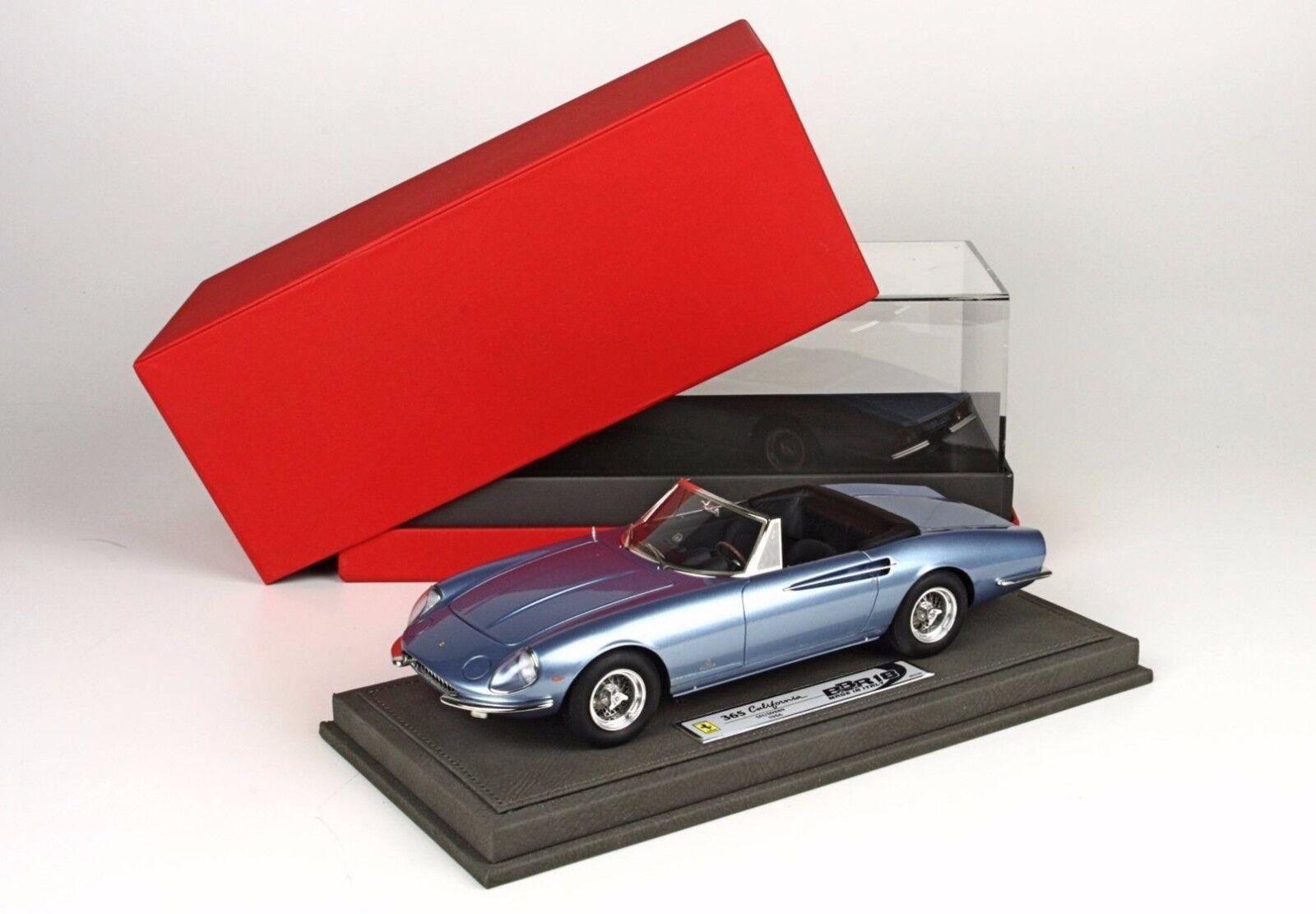 BBR 1966 Ferrari 365 California s  n 09127 blå w  Case 1 18 1814CV Last One -RARE